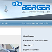 Autoteile Berger - Webdesign, HTML/PHP